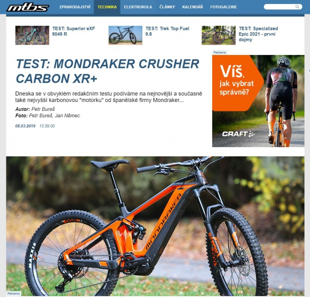TEST MONDRAKER CRUSHER CARBON XR+ (2020)