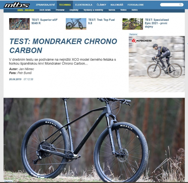 TEST MONDRAKER CHRONO CARBON (2020)