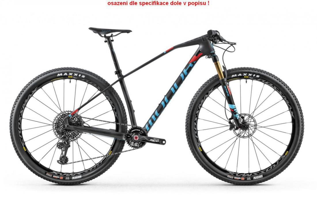PODIUM CARBON RR GX 29, carbon/light blue/flame red