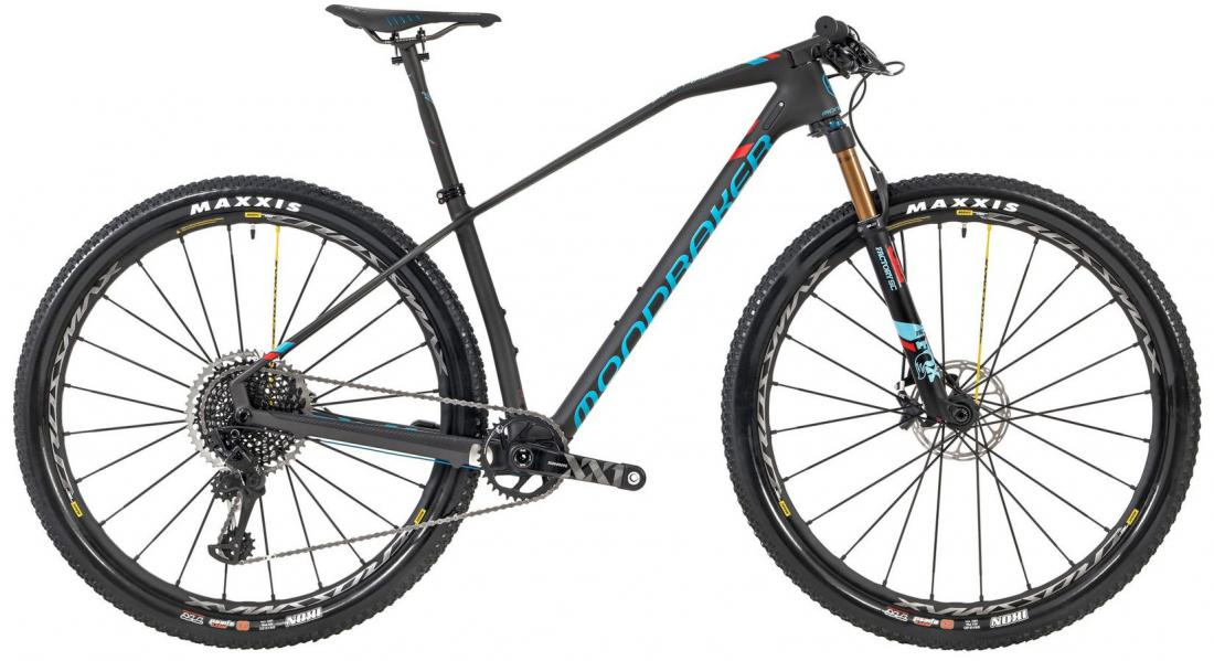 PODIUM CARBON RR 29, carbon/light blue/flame red, 2019
