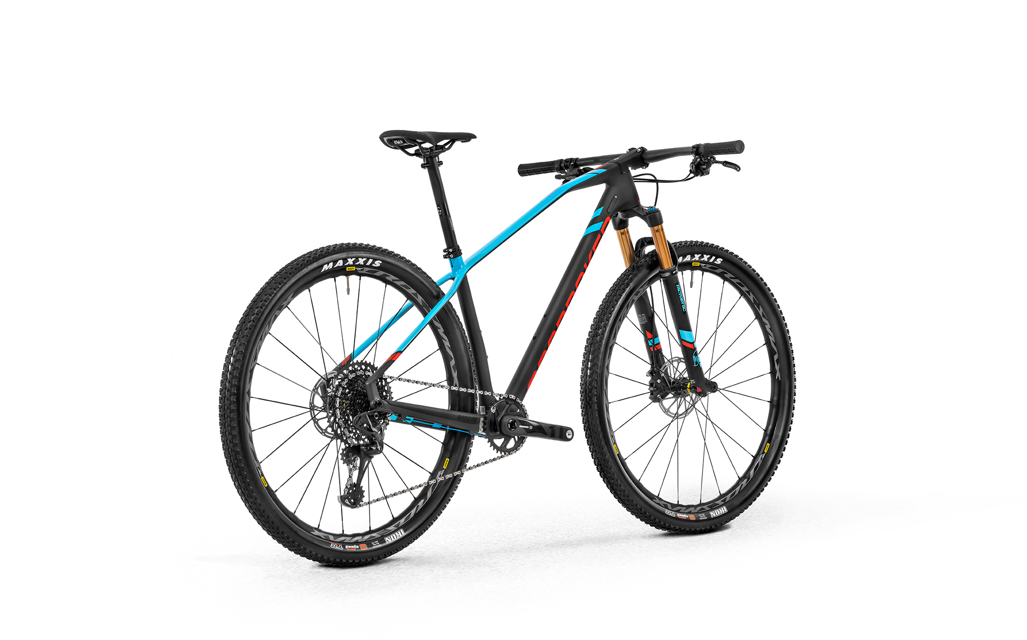 Podium Carbon RR, carbon/light blue/flame red, 2020