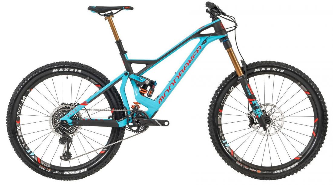 DUNE CARBON XR 27,5, light blue/flame red/carbon, 2019