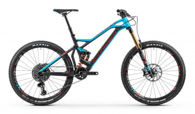 DUNE CARBON XR 27,5, carbon/light blue/flame red