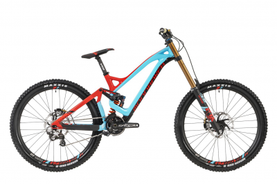 SUMMUM CARBON PRO TEAM 27,5, carbon/light blue/flame red